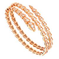 Браслет Bvlgari Serpenti Viper, розовое золото, бриллианты