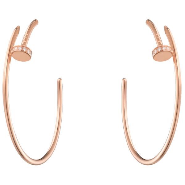 Серьги Cartier Juste Un Clou, розовое золото, бриллианты