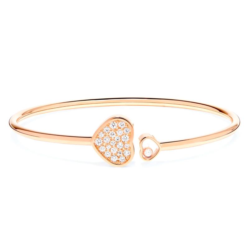 Браслет Chopard Happy Hearts, розовое золото, бриллианты