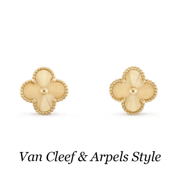 Серьги Van Cleef & Arpels Vintage Alhambra, желтое золото