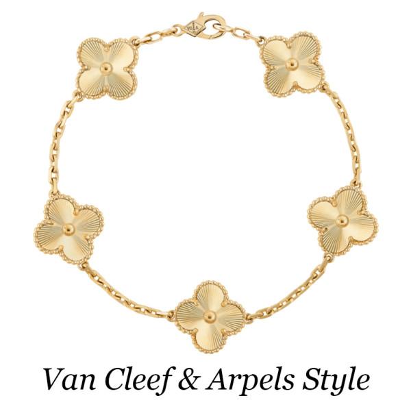 Браслет Van Cleef & Arpels Vintage Alhambra, желтое золото