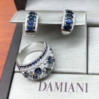 Набор Damiani, белое золото, бриллианты, сапфиры