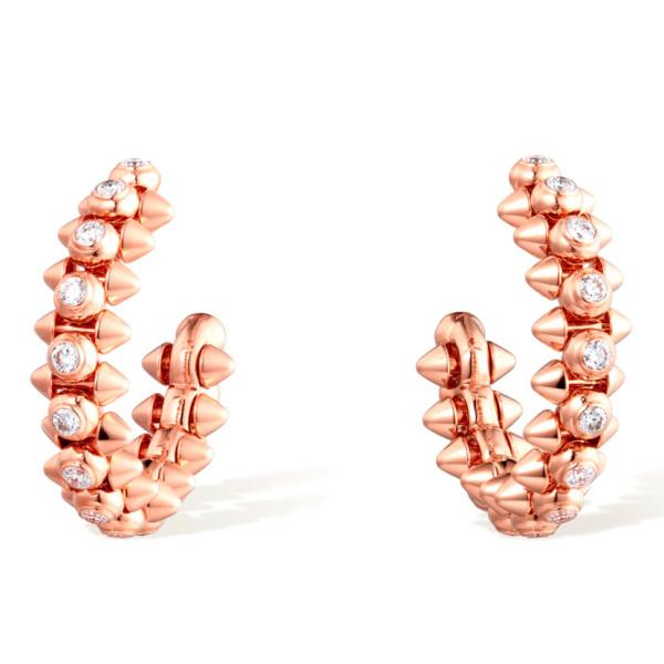 Серьги Clash de Cartier, розовое золото, бриллианты