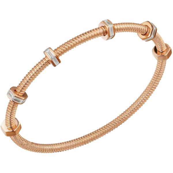 Браслет Ecrou de Cartier, розовое золото, бриллианты