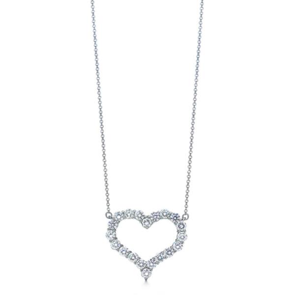 Подвеска Tiffany & Co. Diamond Heart, платина, бриллианты