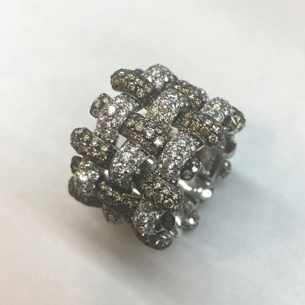 Кольцо Palmiero, белое золото, бриллианты