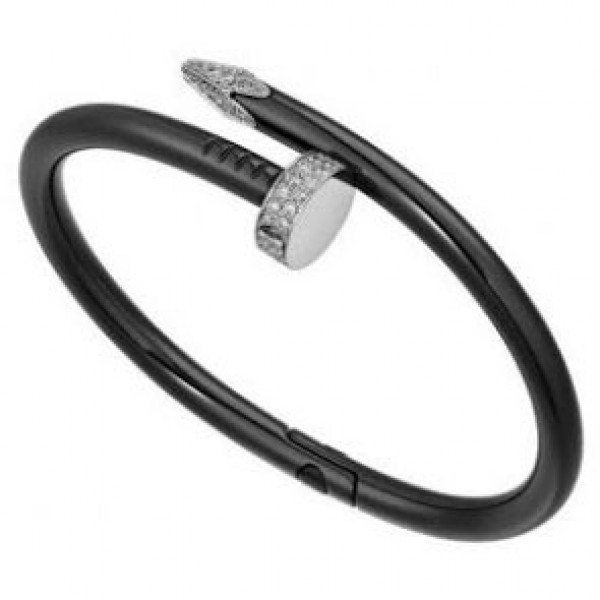 Браслет Cartier's Limited Edition Juste un Clou In Black, белое золото PVD, бриллианты