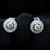 Серьги-пусеты Tiffany & Co, платина, бриллианты