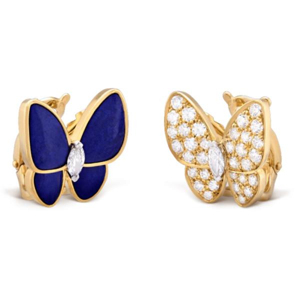 Серьги Van Cleef & Arpels Butterfly, желтое золото, бриллианты