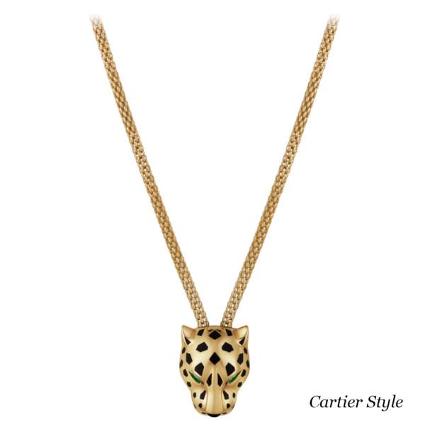 Колье Panthere de Cartier, желтое золото, бриллианты, оникс