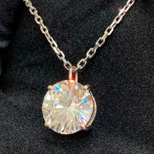 Подвеска Crivelli с бриллиантом 7,06ct, белое золото