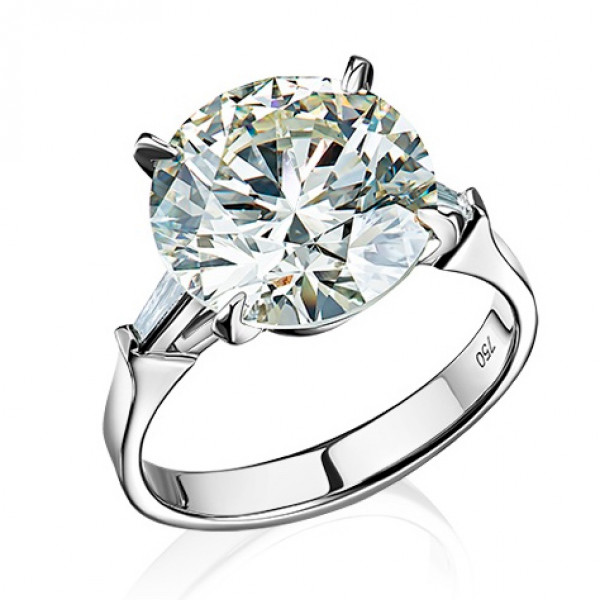 Кольцо Crivelli с бриллиантом 7,06ct, белое золото