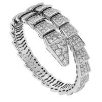 Браслет Bvlgari Serpenti Viper, белое золото, бриллианты
