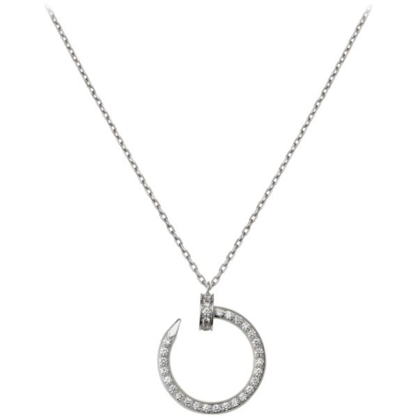 Подвеска Cartier Juste Un Clou, белое золото, бриллианты