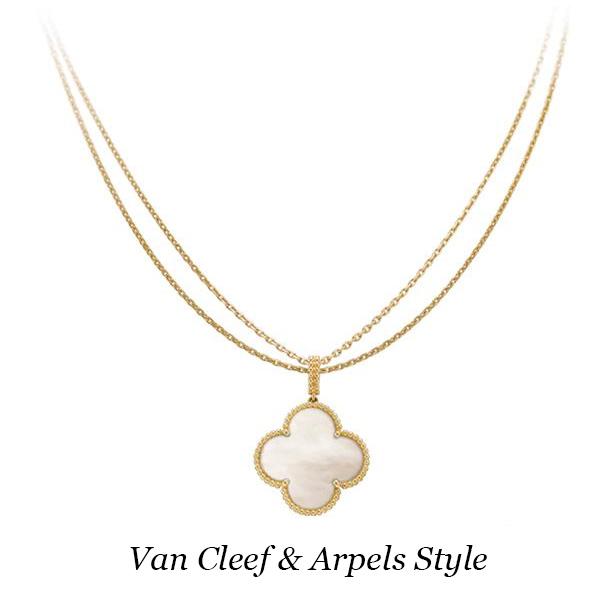 Колье Van Cleef & Arpels Magic Alhambra, желтое золото, перламутр