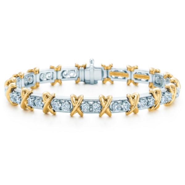 Браслет Tiffany & Co. Schlumberger, золото, платина, бриллианты