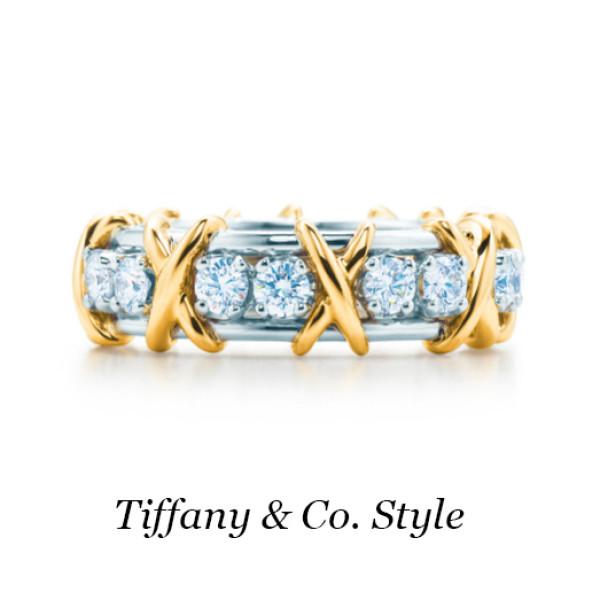 Кольцо Tiffany & Co. Schlumberger, золото, платина, бриллианты